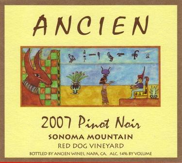 """2007 Sonoma Mountain """"Red Dog Vineyard"""" Pinot Noir"""
