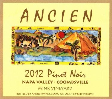 """2012 Coombsville-Napa Valley """"Mink Vineyard"""" Pinot Noir"""