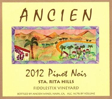 """2012 Sta Rita Hills """"Fiddlestix Vineyard"""" Pinot Noir"""