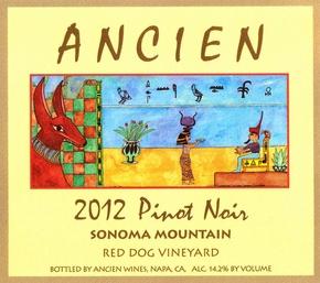 """2012 Sonoma Mountain """"Red Dog Vineyard"""" Pinot Noir"""