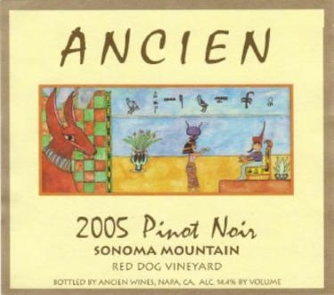 2005 Sonoma Mountain Pinot Noir
