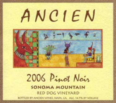 """2006 Sonoma Mountain """"Red Dog Vineyard"""" Pinot Noir"""