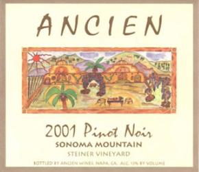 2001 Sonoma Mountain Pinot Noir