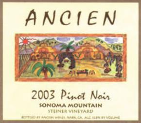 2003 Sonoma Mountain Pinot Noir