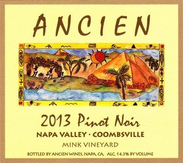 """2013 Coombsville-Napa Valley """"Mink Vineyard"""" Pinot Noir"""